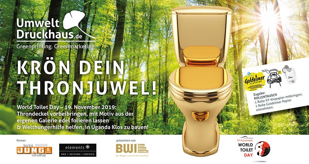 "UmweltDruckhaus Hannover ""Thronjuweliererei"" WorldToiletDay2019"